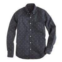 Slim foulard-print shirt