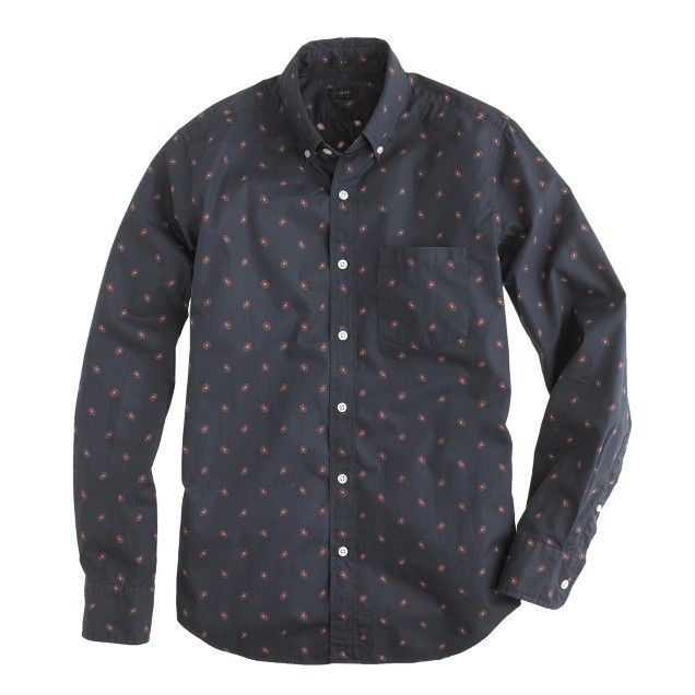 Tall slim foulard-print shirt