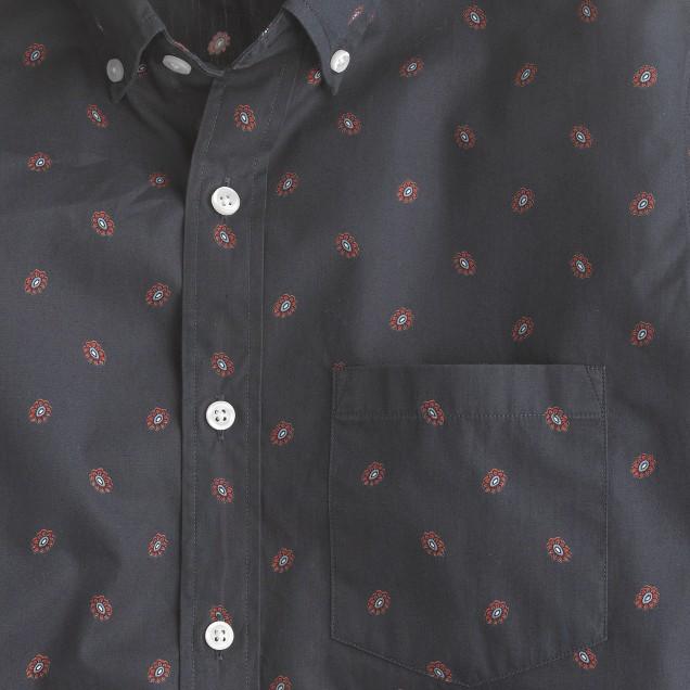 Tall slim foulard-print shirt
