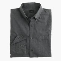 Slim Secret Wash heather poplin shirt