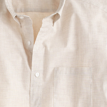 Secret Wash heather poplin shirt