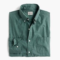 Slim Secret Wash heather poplin shirt
