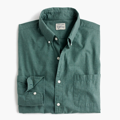 Secret Wash heather poplin shirt