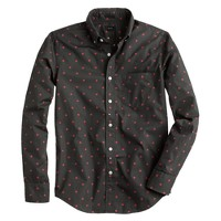 Slim shirt in coal medallion print