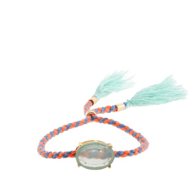 Girls' tassel friendship bracelet with milky stone