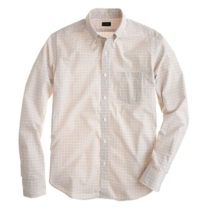 Slim Secret Wash shirt in champagne check