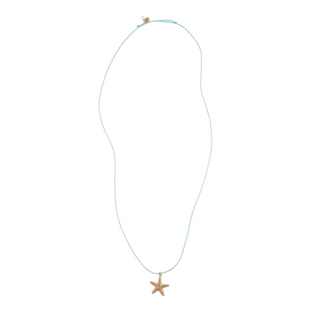 Girls' golden charm necklace