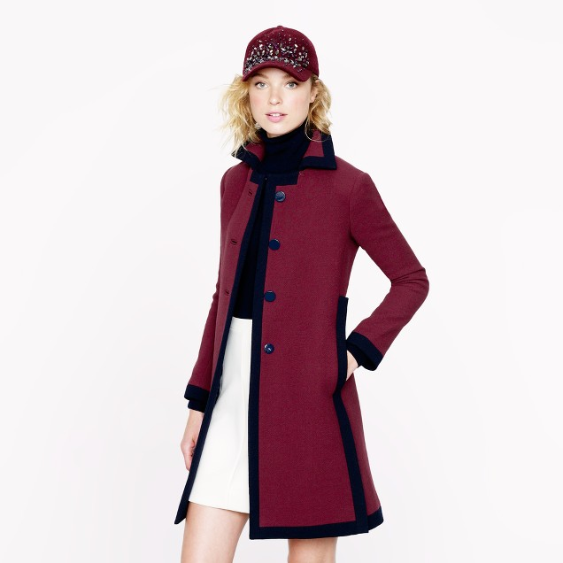 Double-cloth tipped coat
