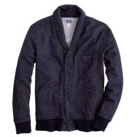 Shawl-collar cardigan sweatshirt