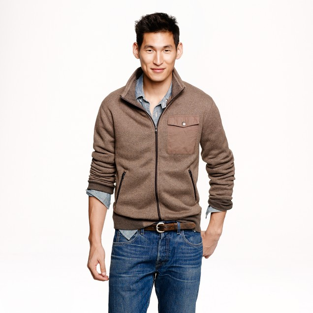 Summit fleece track jacket
