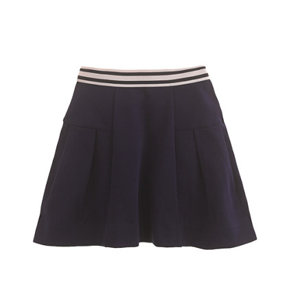 Girls' stripe-waist skirt