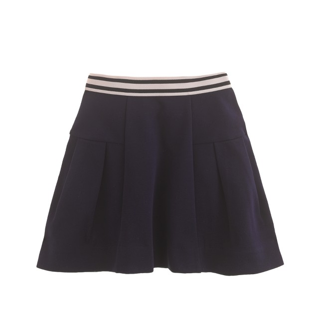 Girls' stripe-waist skirt