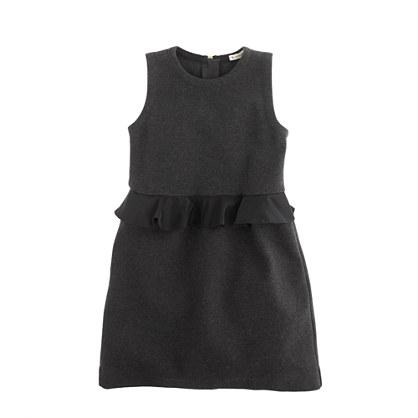 Girls' peplum dress