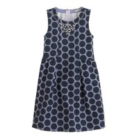 Girls' necklace dress in dot