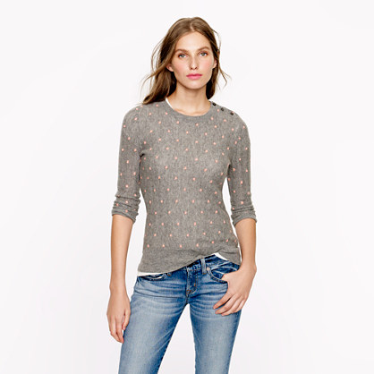 Collection cashmere pointelle dot sweater