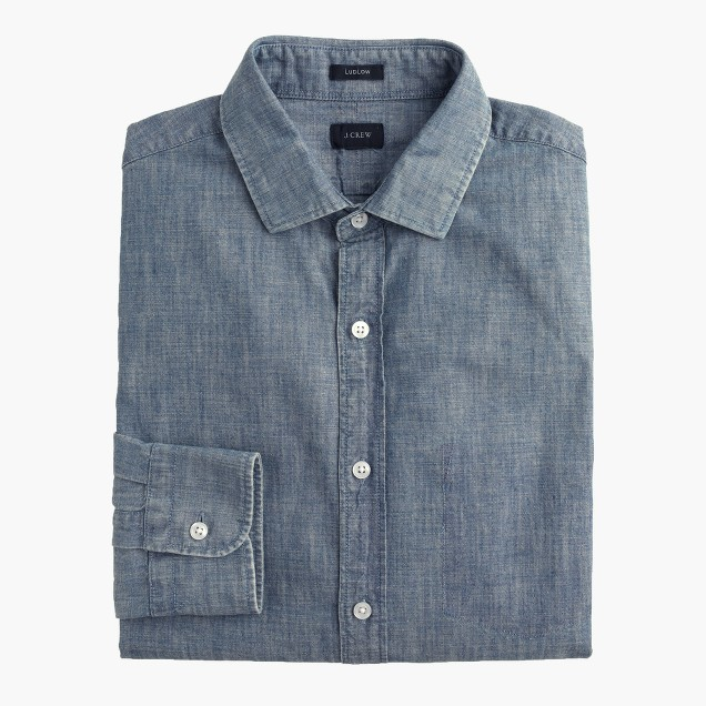 Ludlow shirt in Japanese chambray