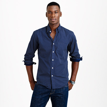 Slim Secret Wash shirt in microdot