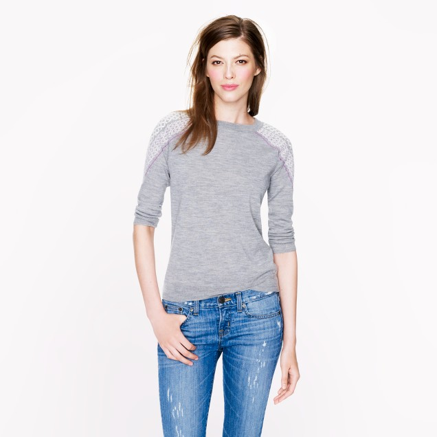 Merino Tippi sweater with shoulder embroidery