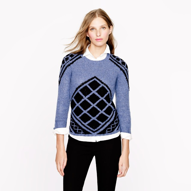 Handknit tile sweater
