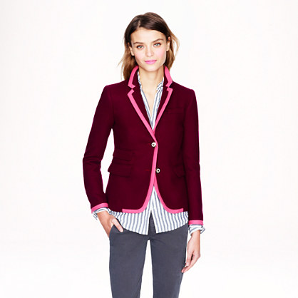 Petite schoolboy blazer in tipped wool