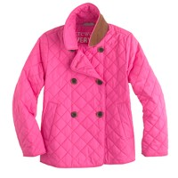 Girls' quilted peacoat