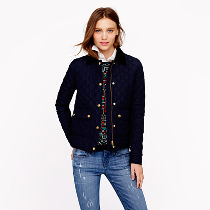 Petite quilted tack jacket : petite | J.Crew