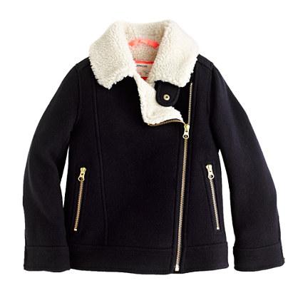 Girls' stadium-cloth motorcycle jacket