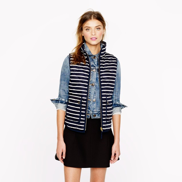 Excursion quilted vest in stripe