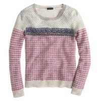 Collection jeweled jacquard sweater