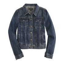 Vintage denim jacket in recycled indigo wash