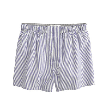 Stripe oxford cloth boxers
