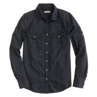 Keeper chambray shirt in dark rinse