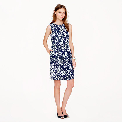 Half-placket dress in tossed hearts