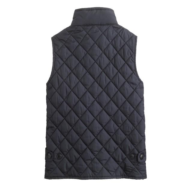 Kids' quilted barn vest