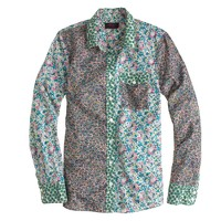 Liberty boy shirt in mixed prints