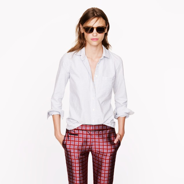 Boy shirt in oxford stripe