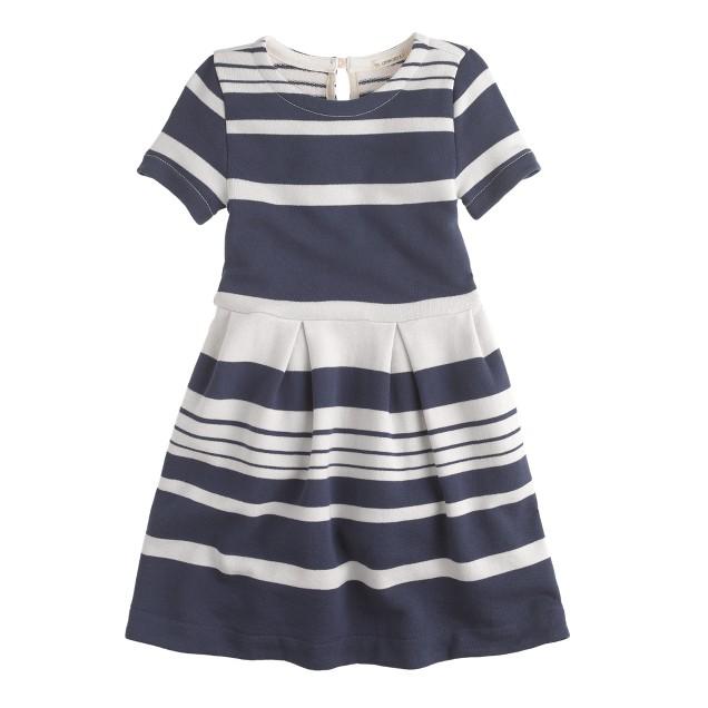 Girls' pleat dress in stripe