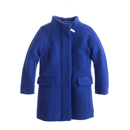 Girls' stadium-cloth cocoon coat