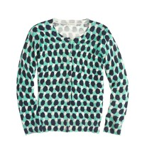 Girls' Caroline cardigan in abstract dot