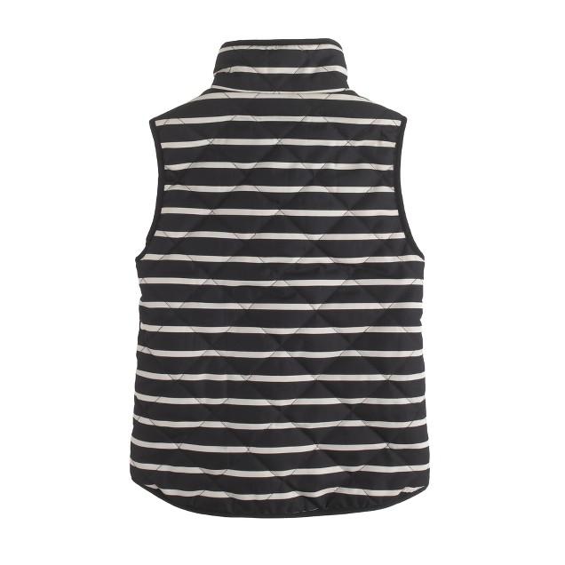 Girls' excursion quilted vest in stripe