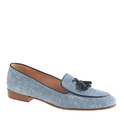 Biella fabric tassel loafers