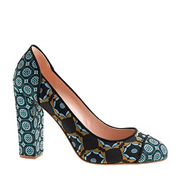 Collection Etta printed cap toe pumps
