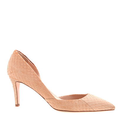 Collection Valentina snakeskin d'Orsay pumps