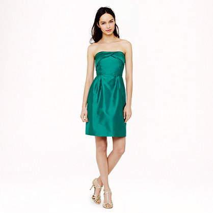 Petite Erin dress in silk dupioni