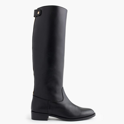 Field boots with extended calf