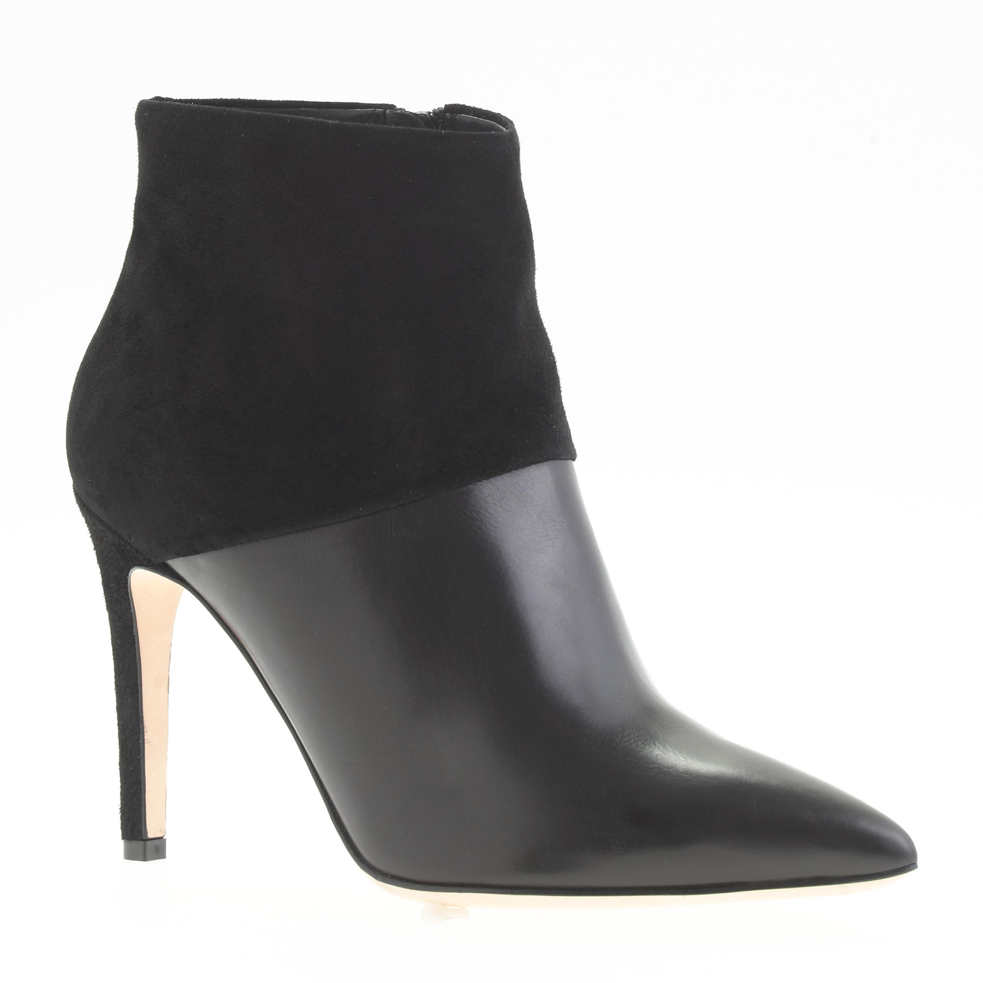 collection leather and suede ankle boots j crew