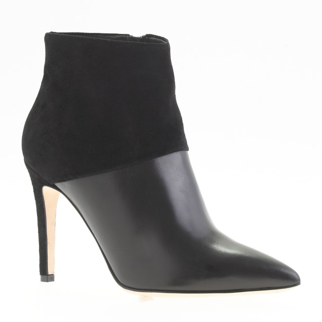 Collection leather and suede ankle boots
