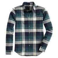 Slim vintage oxford shirt in montclair navy plaid