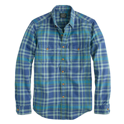 Flannel shirt in nordic sea plaid