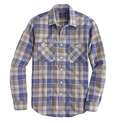 Flannel shirt in desert sand plaid